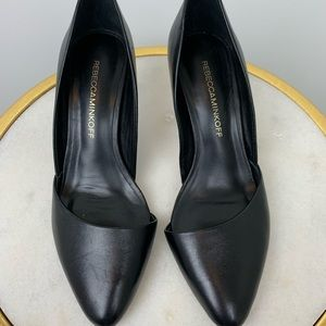 Rebecca Minkoff Black Leather Pumps Size 6